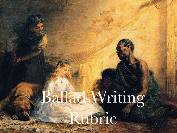 Ballad Writing Rubric