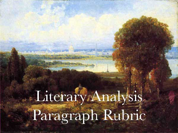 Literary Analysis Paragraph Rubric