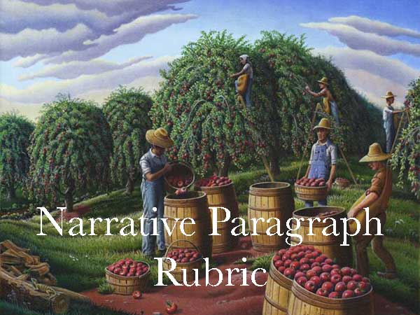 Narrative Paragraph Rubric